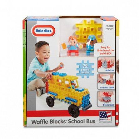 Little Tikes-Set constructie,Autobuz scolar,72pcs