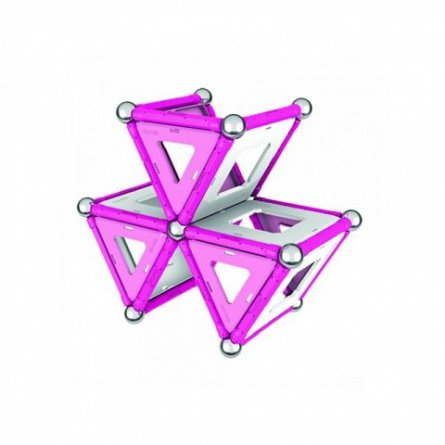 Geomag-set contructie magnetic,roz,68 pcs