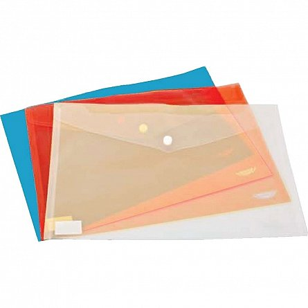 Mapa plastic,A4,capsa,albastru