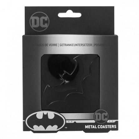 Suporturi pahar metalice - Batman (4 buc)