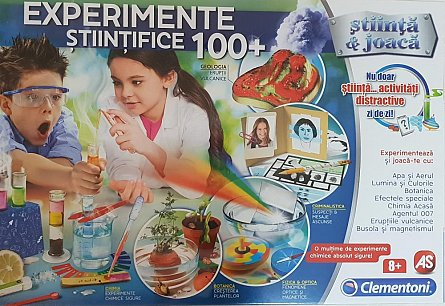 Set stiinta si joaca,100 experimente stiintifice,+8Y