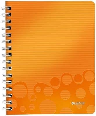 Caiet cu spira A5,PP,matematica,portocaliu,Leitz