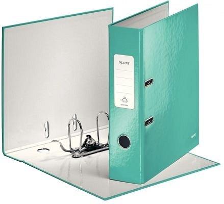 Biblioraft A4, 50 mm, Leitz, PP, verde metalizat