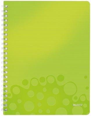Caiet cu spira A4,PP,matematica,verde,Leitz