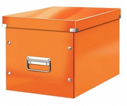 Cutie depozitare cu capac,medie,portocaliu,Leitz