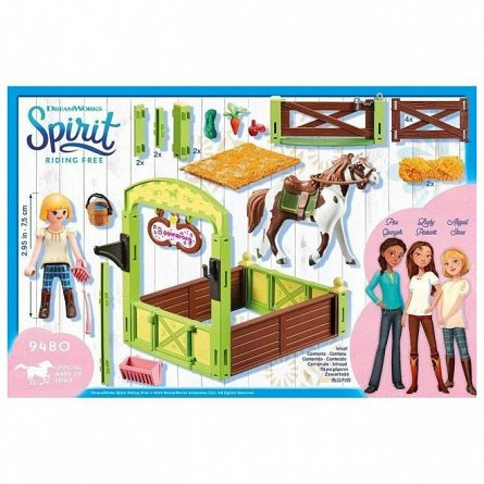 Playmobil-Set ingrijire cai,Abigail si Boomerang