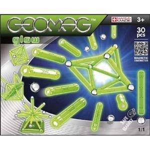 Geomag-set contructie magnetic,Glow,30 pcs