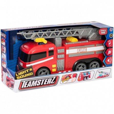 Teamsterz,masina de pompieri,lumini si sunet,37cm