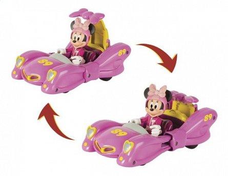 Masina transformabila,Mickey si pilotii de curse,figurina Minnie Mouse