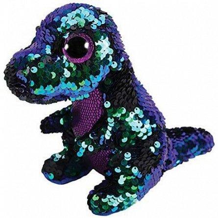 Plus TY,Dinozau Crunch,paiete mov/verde,24 cm