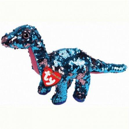 Plus TY,Dinozaur Tremor Marin,paiete roz,15 cm