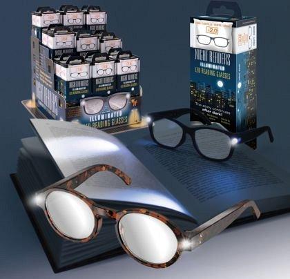 Ochelari pt. citit cu LEDuri, +1.5, Tortoise