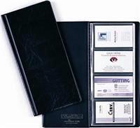 Clasor carti vizita  Durable, 96 pozitii, negru