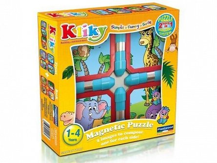 Supermag,Kliky-Puzzle magnetic,animale safari,1-4Y