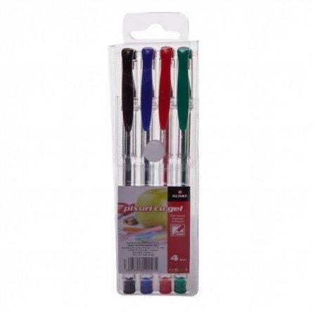 Pix cu gel,Kunst,4b/set,negru/rosu/verde