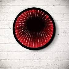Lampa iluzie optica, LED-uri rosii - Round Infinity Light