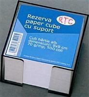Cub hartie 90 x 90 mm, 500 coli, cu suport