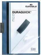 Dosar Duraquick cu clema,20coli,albastru