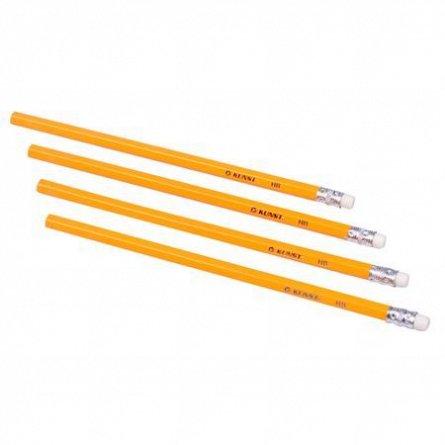 Creion grafit Kunst,HB,cu radiera,4buc/s