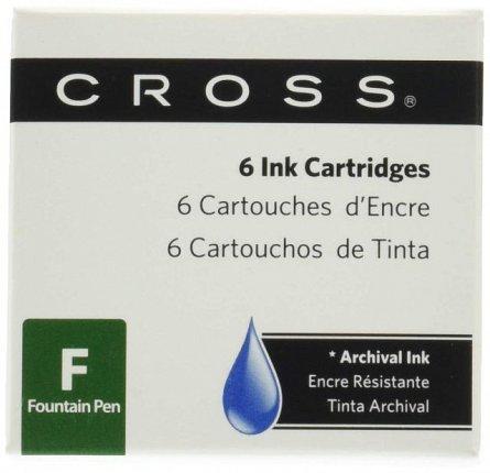 Rezerva stilou (Patroane cerneala) Cross, st, blue, 6 buc/set