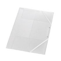 Mapa plastic cu elastic,15mm,alb transpar