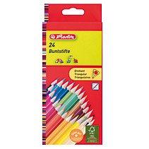 Creioane colorate triunghiulare,24cul/set