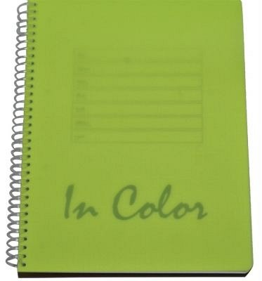 Caiet spira A5,80file,PP,dict,In Color,verde