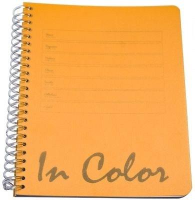 Caiet spira A4,80file,PP,mate,In Color,portocaliu