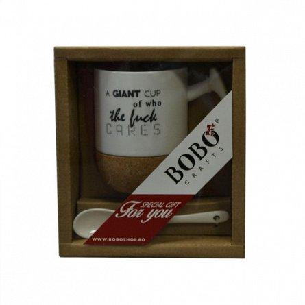 Cana A grand cup..,300ml,lingurita,set