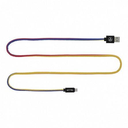 Cablu USB - Micro USB Tellur, 1m, FRF, 3 culori