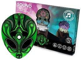 Masca cu LEDuri reactive la sunet, Alien