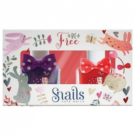 Snails,Oja lavabila,2buc/set,rosu&mov,Be Free