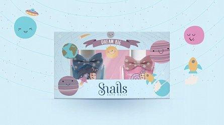 Snails,Oja lavabila,2buc/set,roz&turcoaz,Dream