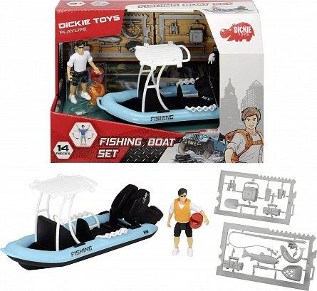 Barca de pescuit,Dickie,20cm,Play Life
