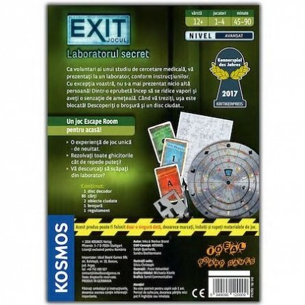 Joc Exit,Laboratorul secret