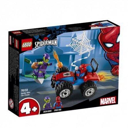 LEGO Super Heroes Urmarirea cu masina a lui Spider-Man
