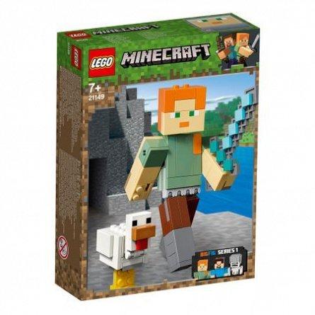 LEGO Minecraft Alex Minecraft BigFig cu gaina