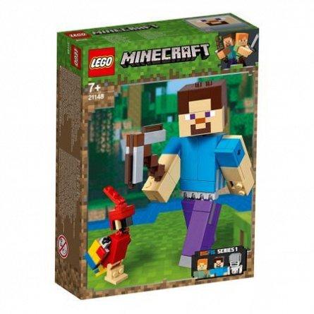 LEGO Minecraft Steve Minecraft BigFig cu papagal