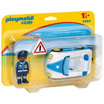 Playmobil-1.2.3 Masina de politie