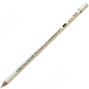 Creion pastel,uleios,alb
