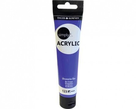 Tub culori acrilice,Simply,75ml,123