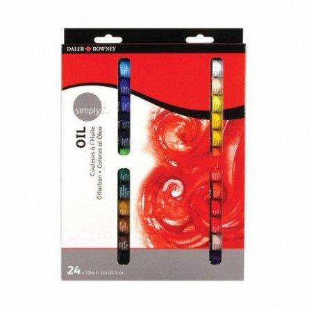 Set culori acrilice,Simply Oil,12ml,24b