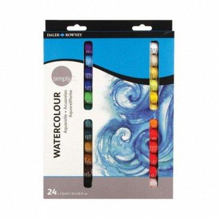 Set culori acrilice,Simply Watercolour,12ml,24b