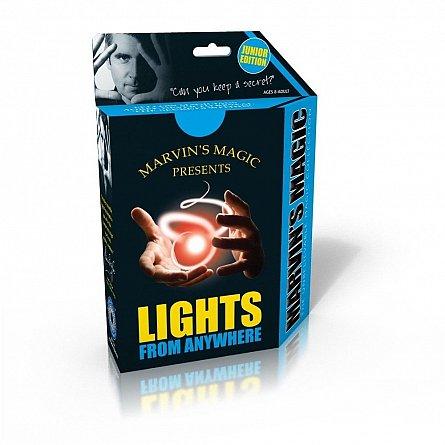 Joc de magie copii, lumini care apar si dispar