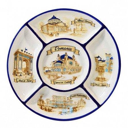Farfurie ceramica,D20cm,Cazinoul din Constanta,5separatoare