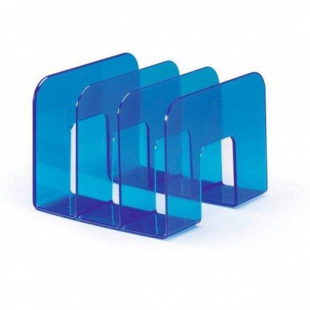 Tavita documente Durable Trend,verticala,3comp,albastru