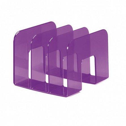 Tavita pentru documente, Durable Trend, verticala, 3 compartimente, mov