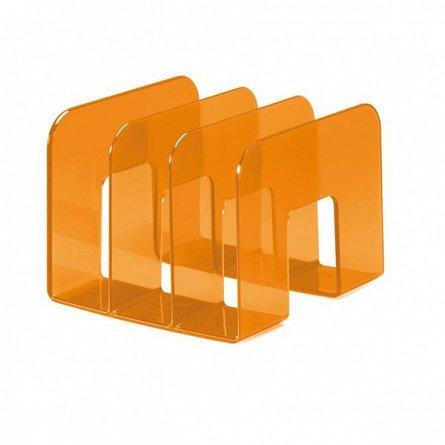 Tavita pentru documente, Durable Trend, verticala, 3 compartimente, portocaliu