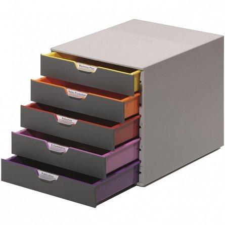 Cutie depozitare Durable Varicolor,5 sertare