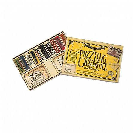 Puzzle lemn,Obscurities,12buc/set
